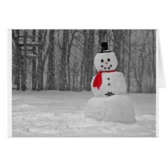 Escarchado el muñeco de nieve tarjeta de felicitación