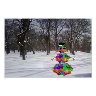 Escarchado el virus en la nieve póster