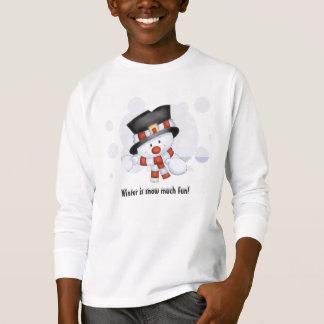 Escarchado la camiseta del niño del muñeco de camisas