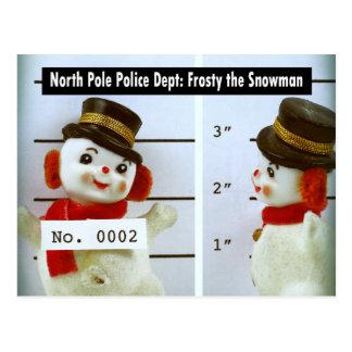 Escarchado la fotografía de detenido del muñeco de tarjetas postales