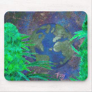 """""""Escarde el arte @TeddyArt del mundo"""" Mousepad"""