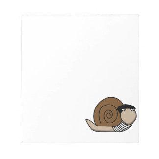 Escargot - caracol francés bloc de papel