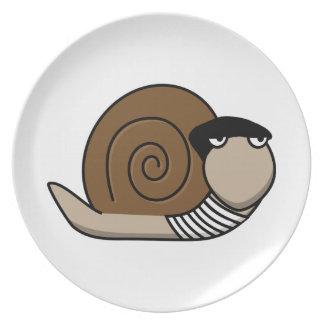 Escargot - caracol francés platos para fiestas