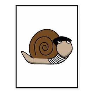 Escargot - caracol francés postales