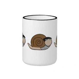 Escargot - caracol francés taza a dos colores