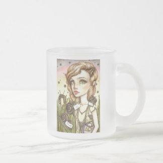 Escargot Express Frosted Glass Coffee Mug