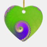 Escargot fractal christmas ornament
