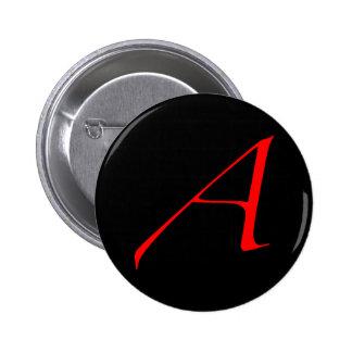 Escarlata ateo un botón pin redondo de 2 pulgadas