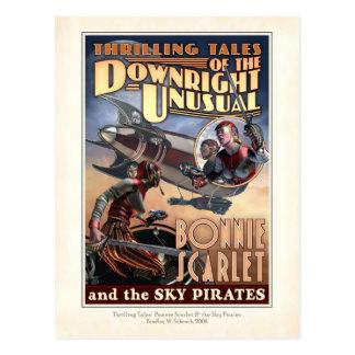 Escarlata de Bonnie y la postal de los piratas del