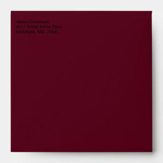 Escarlata de envío de la oscuridad del diseñador sobres