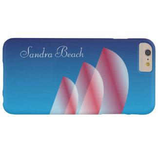 Escarlata Sails_personalized de Funda De iPhone 6 Plus Barely There