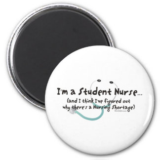 Escasez del oficio de enfermera imán redondo 5 cm