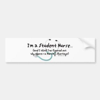 Escasez del oficio de enfermera pegatina para auto