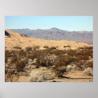 Escena 04 del desierto de Mojave Póster