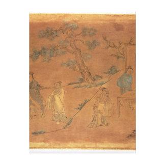 Escena a partir de la vida de Confucio Impresión En Lienzo