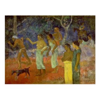 Escena a partir de la vida de Tahitian, 1896 Tarjetas Postales