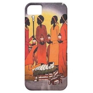 Escena africana de la natividad del navidad funda para iPhone SE/5/5s