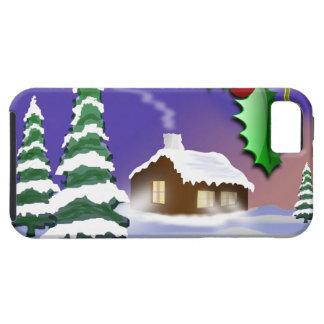 Escena al aire libre del navidad funda para iPhone SE/5/5s