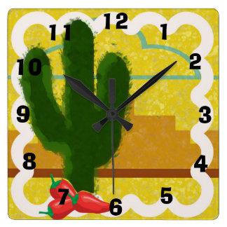 Escena al sudoeste del desierto del estilo con el  reloj