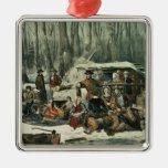 Escena americana del bosque - arce que azucara, 18 ornamentos de reyes