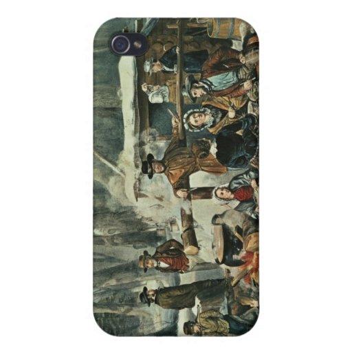 Escena americana del bosque - arce que azucara, 18 iPhone 4/4S funda