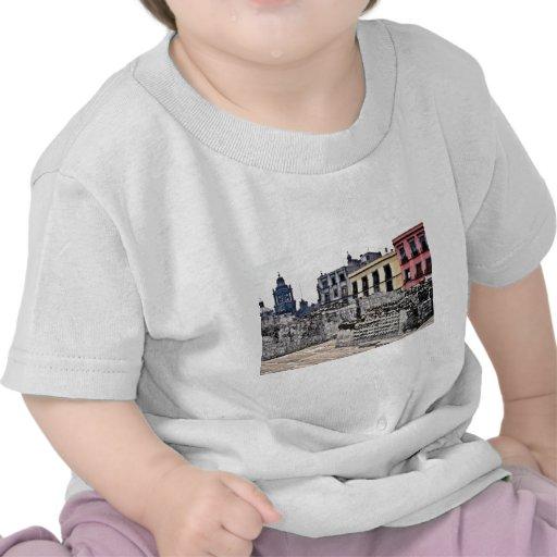 Escena arquitectónica histórica camiseta