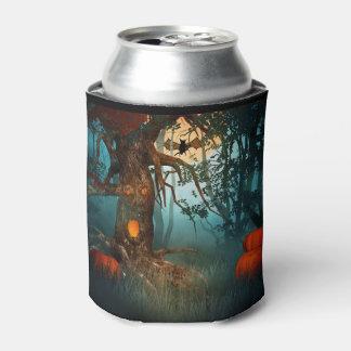 Escena asustadiza del árbol de Halloween (3) Enfriador De Latas