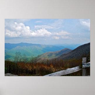Escena azul 1 de la ruta verde de Ridge Poster