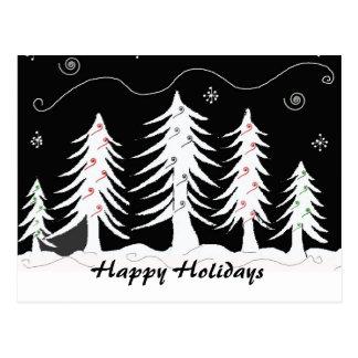 Escena blanco y negro del navidad tarjeta postal