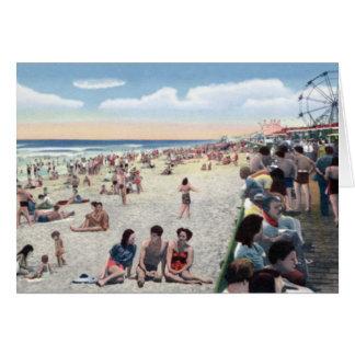 Escena Boardwal de la playa de Carolina del Norte  Tarjeta