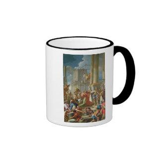 Escena clásica de la construcción tazas de café