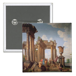 Escena clásica pin cuadrada 5 cm