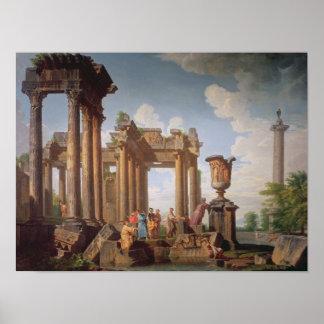 Escena clásica póster
