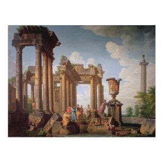 Escena clásica tarjetas postales