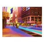 Escena colorida de la calle de NYC Postal