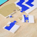 Escena colorida de la playa puzzles con fotos
