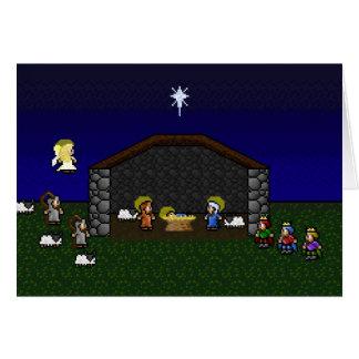 escena de 16 bits de la natividad del RPG Tarjeta