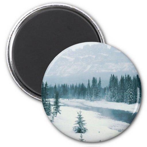 Escena de Alberta Nevado Imán Redondo 5 Cm