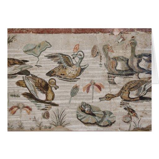 Escena de aves acuáticas en el Nilo, casa del faun Felicitación