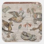 Escena de aves acuáticas en el Nilo, casa del Calcomania Cuadradas Personalizadas