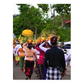 Escena de Bali Tarjeta Postal