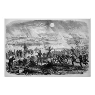 Escena de batalla de Gettysburg Posters