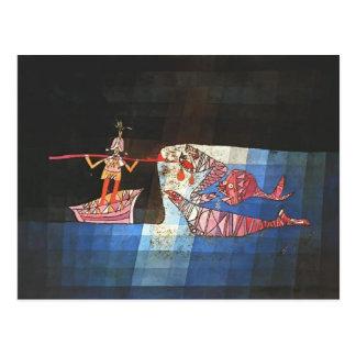 Escena de batalla de Paul Klee- del ` cómico Seafa Tarjetas Postales