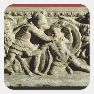 Escena de batalla de una urna cineraria Etruscan Pegatinas