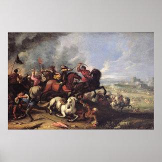 Escena de batalla póster