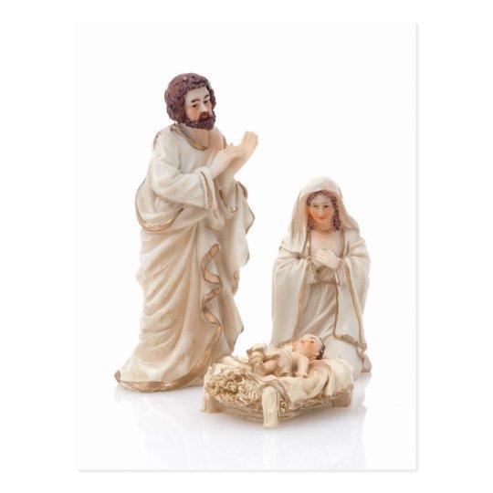 Escena de cerámica de la natividad postal