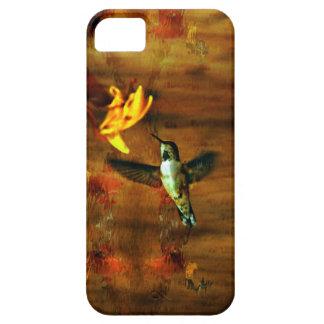 Escena de cernido de la cabaña del colibrí iPhone 5 fundas