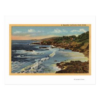 Escena de Coastal del Californian de Postal