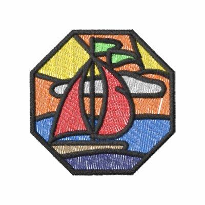 Escena de cristal del velero de la mancha