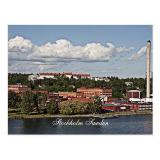 Escena de Estocolmo Suecia Tarjeta Postal